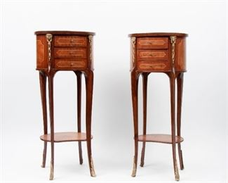 110: Two 19th c. Louis XVI Style Petite Commodes