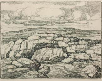118: Birger Sandzen 'Nature's Bridge' Signed Lithograph