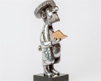 119: Frank Meisler Articulating Metal Judaica Sculpture