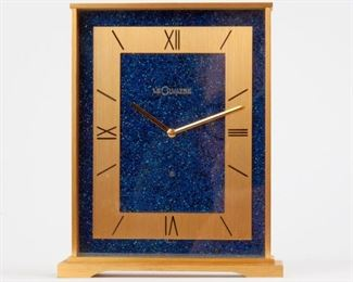 126: LeCoultre Gilt Brass 8-Day Desk Clock