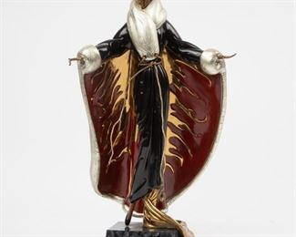 """145: Erte Limited Edition Bronze """"Faubourg St. Honore"""""""