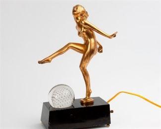 149: Figural Nude Art Deco Lamp