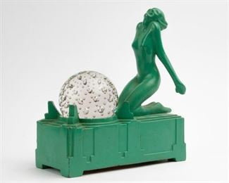 150: Frankart Figural Art Deco Lamp
