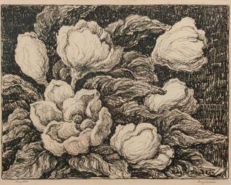 173: Birger Sandzen 'Magnolias' Pencil-Signed Lithograph