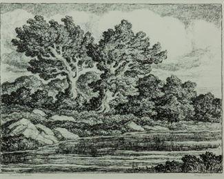 174: Birger Sandzen 'Bennington Lake' Signed Lithograph