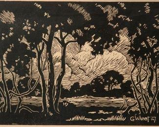 183: Gladys Wheat (1889-1976) 1927 Woodcut