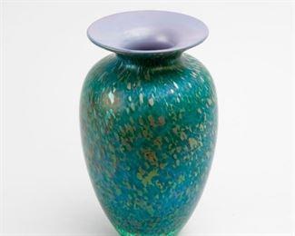 189: Tim Lazer Art Glass Vase