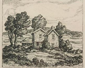 199: Margaret and Birger Sandzen 'Wildcat Valley Farm' Litho