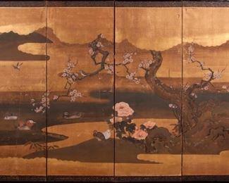 201: Robert Crowder (Attr.) Japanese-Style Four-Panel Screen