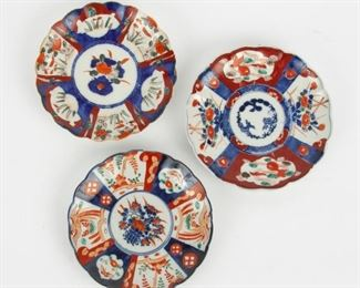 202: Three 19th c. Imari Plates
