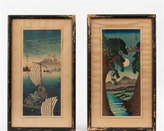 210: Two Vintage Japanese Color Woodblocks