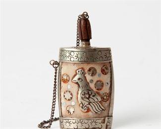215: Tibetan Snuff Bottle with Bird Motif