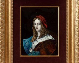 230: Reverse-Painted Glass Portrait