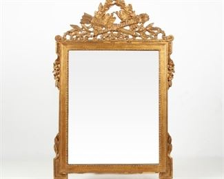 240: Italian Louis XVI Style Hand-Carved and Gilt Mirror