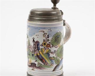 242: Antique German Faience Stein