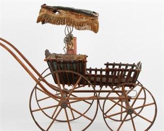 245: Antique Handmade Doll Buggy, 19th c. Kentucky