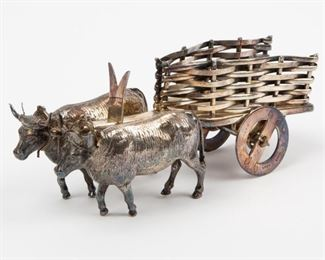 247: Wallace Silver Plate Ox Cart