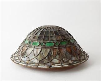 249: Slag Glass Lamp Shade, Early 20th