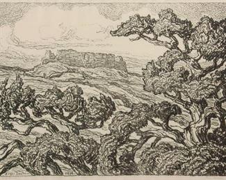 153: Birger Sandzen 'Gran Quivira' Pencil-Signed Lithograph