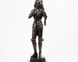 160: Joan of Arc Heroic Metal Sculpture