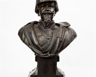 "161: Cast Bust of Napoleon III, 29"" Height"