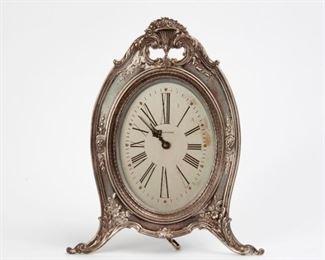 169: Reed & Barton Sterling Waltham Dresser Clock