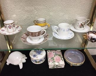 Collectable Demitasse Cups and Jewelry Boxes...