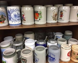 Great collection of German Beer Mugs and Steins...