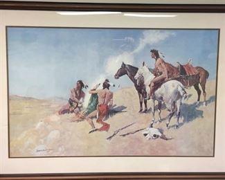 Large Fredrick Remington Framed Print...