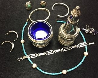Estate Jewelry and Silver Service Items...