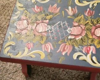 German style painted bench