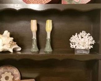 Two vintage shelves