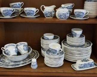 The entire vintage English dinner set