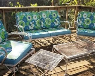 Awesome mid-century outdoor set
