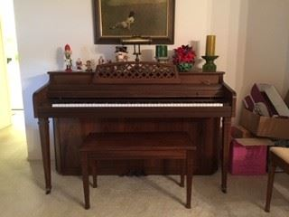 Whitney Kimball Piano & Bench Assorted Christmas Decorations  Andrew Wyeth's Christinas World Framed Print 1 of 100