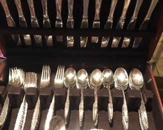 Sterling Silver Flatware - full set of 12 +