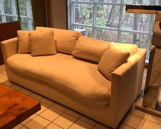 Ivory Wool Loveseat - matched set of 2 available