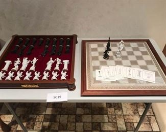 004 Franklin Mint Chess Set of the Gods