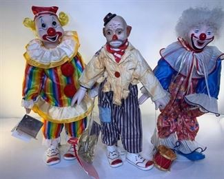 "The Heritage Mint 16"" porcelain clown collection"