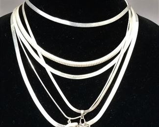 choice of Sterling necklaces