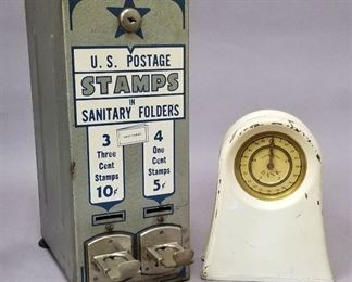old stamp machine and bank