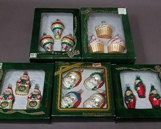 several glass ornaments
