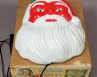 large lighted Noma santa face