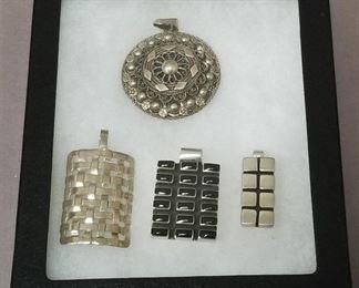 heavy Sterling pendants
