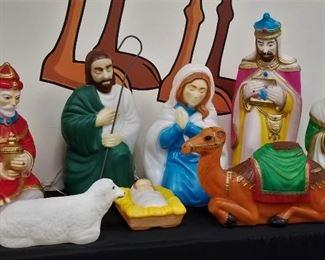 full nativity blow-mold set