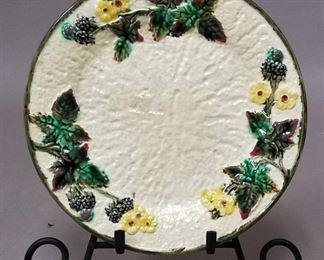 "rare Majolica plate by Clifton Décor ""Blackberry"""