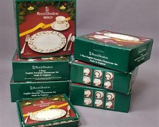 """set of Royal Doulton """"Holiday"""" dishes NIB"""