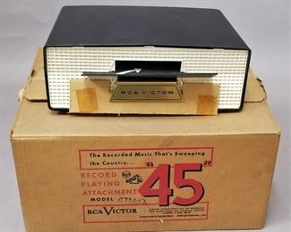never used 1950s RCA Slide-O-Matic record player 45s