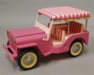 1962 Tonka pink jeep in Elvis Pink