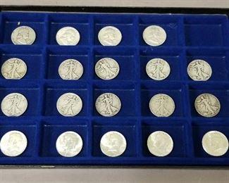 choice of Franklin/Walking Liberty/Kennedy half dollar silver coins